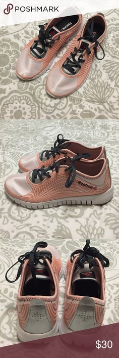 Reebok ZRated Nano Web Running Shoes Reebok ZRated Nano Web Running Shoes EUC                                                                          Size: 10                                                                     Color: Peach Pink, White and Silver                *Little wear on soles. These shoes were worn twice. Reebok Shoes Athletic Shoes