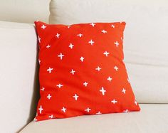 Bright Poppy Red Plus Pillow - 13 x 13 in.