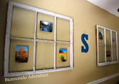 Shabby Chic Windows turned into Picture Frames