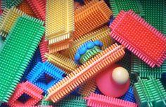 Sticklebricks... I wonder if they still make these, Wilder would love them.