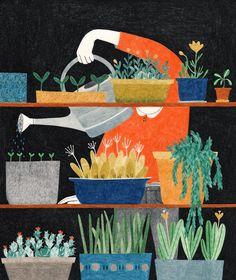 Colored pencil illustration by Lieke van der Vorst #illustration #coloredpencilart