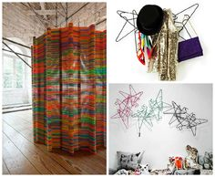 Design-Art Wall Made From Repurposed Hangers | by irecyclart
