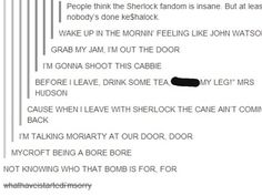 Ke$halock. Proof the Sherlock fandom is THE MOST insane fandom that exists. *leans in and whispers* come join us, dearie.