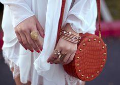 Bohemian fashions styles 2012; luxury Alligator Crocodile leather studded handbags,