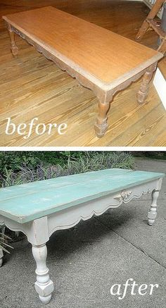 Really love this painted furniture DIY - love the distressing