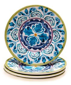 Mood Indigo Salad Plate - Set of Four #zulily #zulilyfinds
