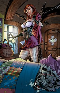 J. Scott Campbell - Fairytale Fantasies - Red Riding Hood