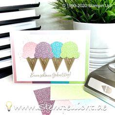 Stempellicht: Eiszeit Stampin Up Cards, Ice Cream Pops, Birthday, Cards, Diy Cards, Homemade Cards