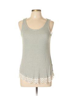SONOMA life + style Sleeveless Top: Size 12.00 Dark Green Women's Tops - $10.99
