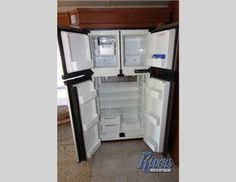 Full sized refrigerator and freezer.