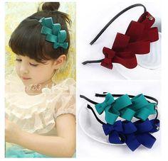 1pcs 2016 children girl bows hair cute band baby girl headband kids headwear hair accessories