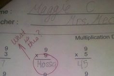 A Blackhawks fan answers Hossa to 9 x 9 on a multiplication test