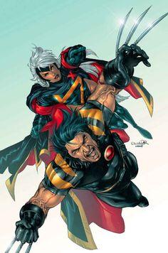 X-Men - Wolverine and Storm by Salvador Larroca