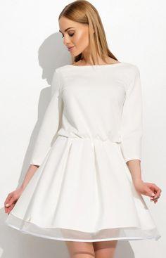 Makadamia M311 sukienka biała