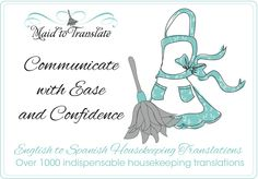 Learn to communicate with ease when working with a Housekeeper! MaidToTranslate.com #tips #housekeeping #cleaning #books