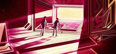 Kilian Eng - Really digging the illustration work of Kilian Eng! His mix of natural imagery with retro-futuristic fantasy architecture all drawn in a Dut...