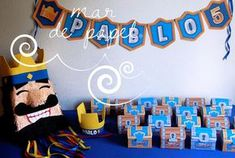 MAR DE PAPEL: El cumple5 de Pablo: Clash Royale Clash Of Clans, Torta Clash Royale, 9th Birthday, Birthday Parties, Royal Party, Fiesta Party, Reception Table, Holiday Decor, Infinity