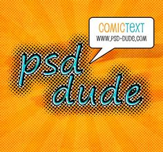 Comic Text in Photoshop - Photoshop tutorial | PSDDude