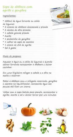 Sopa de abóbora com agrião e gengibre – Por Andrea Santa Rosa
