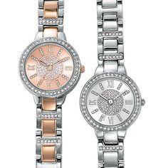 Pure Elegance Watch Created with Swarovski® Crystals   AVON.  Shop online at youravon.com/mpuryear.  #gifts #watches #fashion