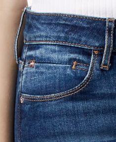 Cropped Skinny Jeans, Slim Jeans, Denim Pants Mens, Jeans Pants, Juniors Jeans, Guess Jeans, Pocket Detail, Denim Fashion, Cotton