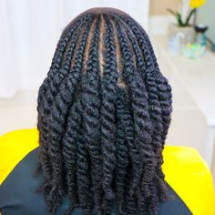 How to do Loose Twists with Cornrows on Natural Hair Protective Hairstyles For Natural Hair, Girls Natural Hairstyles, Natural Hair Twists, Pelo Natural, Loose Hairstyles, Sisterlocks, Cornrows, Hair Twist Styles, Braid Styles