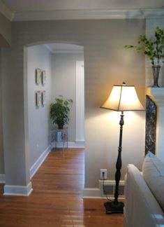 Behr's Mineral, a perfect mix of beige and gray.- Possible bedroom color