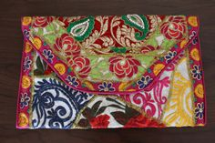 clutch etnico parches boho tribal kuchi afghan por azulcasinegro