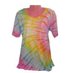 Pastel Rainbow Spiral - Tie Dye Shirt by THE TIE DYE PROJECT  https://www.facebook.com/ColorYourWorldTheTieDyeProject