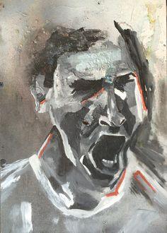 Marina Alexandrovna. acrylic paint, spray paint, wood
