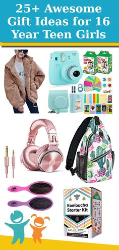 Check out our list of over 25 awesome Gift Ideas for 16 Year Old Teen Girls! Gifts For Young Women, Cool Gifts For Teens, Best Gifts For Girls, Cool Toys For Girls, Teenage Girl Gifts, Christmas Shopping, Christmas Gifts, Old And Teen, Teen Stuff
