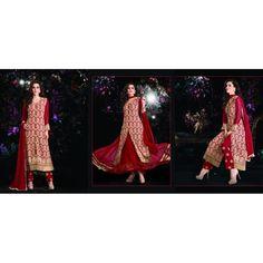 Viva N Diva Beige & Maroon Color #SalwarSuit & #Lehenga available at #Celebstall #fashion #ethnicwear #indianwear #onlineshopping