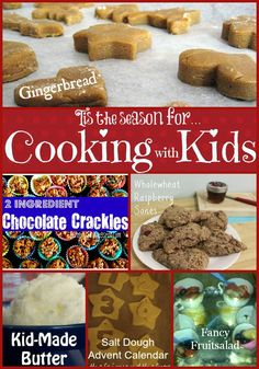 Tis the season for...Cooking with Kids! Fun, kid friendly recipes :)