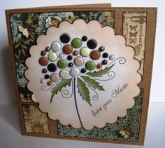 Another card made with beautiful Woodware stamps - Bubble Bloom Clarissa… 3d Cards, Love Cards, Christmas Cards, Making Greeting Cards, Greeting Cards Handmade, Stamps By Chloe, Craftwork Cards, Button Cards, Candy Cards