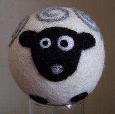 Wool Felt Ball Sheep Decor Toy Waldorf by andersonsawedoffacre