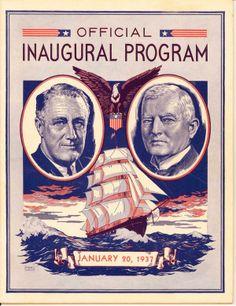 President Franklin Roosevelt & Vice-President John Nance Garner Inaugural Program.