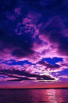 purple clouds