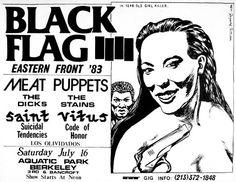 Raymond Pettibon Black Flag Meat Puppets