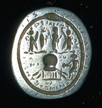 """LUCKY CHARMS OF BIRTH CONTROL Perhaps the earliest form of contraception, amulets and charms with reputed powers to prevent conception were used for thousands of years -- granted, with little success. The above left example from ancient Egypt was designed to open and close the womb with a special """"key"""" engraved on the front."""
