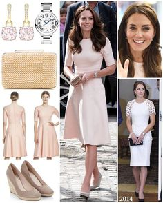 The Duchess is pretty in pink today as she carries out some engagements with William in Cornwall as part of their two-day tour (more info about their particular engagements will be given on my other posts). I don't know about you, but I think this dress is to die for. It is the second time Kate has worn a piece by the brand Lela Rose, opting for the Double Faced Twill Elbow Sleeve Dress featuring a very flattering fit and flare silhouette. The blush dress originally retailed at $1,295 but…