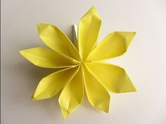 Origami 8-Petal Flower Folding Instructions                                                                                                                                                                                 Mais