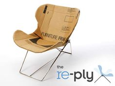 The Re-PLY Chair by Dan Goldstein is a Eco-Firned #seating trendhunter.com