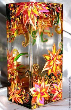 """Купить Ваза """" Осень для свекрови """" - оранжевый, ваза, ваза для цветов, ваза декоративная"""