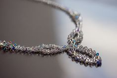 beaded Swarovski crystal necklace