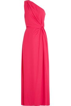 Halston Heritage Asymmetric knotted chiffon gown | THE OUTNET