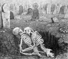 Laurie Lipton - Dying Embrace