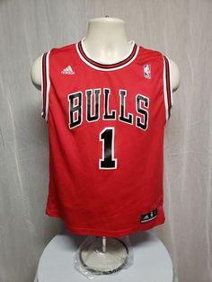 Adidas NBA Chicago Bulls  1 Derrick Rose Kids Large Red Jersey  adidas   ChicagoBulls c553b4366