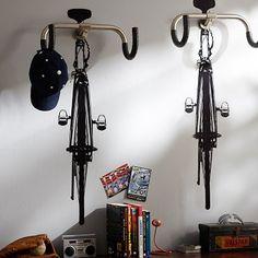 Road Bike Decals + Handlebar Hook - cute idea!