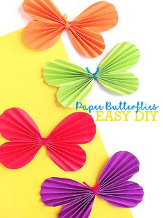 Easy crafts are always some of my favorites. And these Simple Folded Paper Butterflies are a beautiful, simple spring craft! This Simple Folded Paper Butterflies Craft come together with the help of our Paper Butterflies Free Printable Template. Print out the Paper Butterflies Free Printable Template then trace on your choice of colored construction paper. …