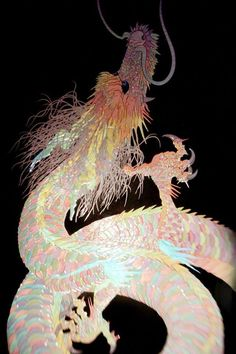 """""""Kazuhisa Kusaba"""" About the work """"The time is now"""" Fantasy Creatures, Mythical Creatures, Draco, Chandelier Art, Chinese Drawings, Art Prompts, Dragon Art, Psychedelic Art, Ancient Art"""
